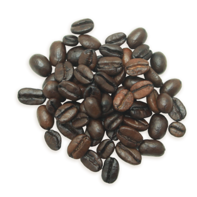 A cluster of Tantalizing Turkish coffee beans, a darker roast.
