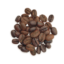 A cluster of Sooo Good coffee beans, a lighter roast.