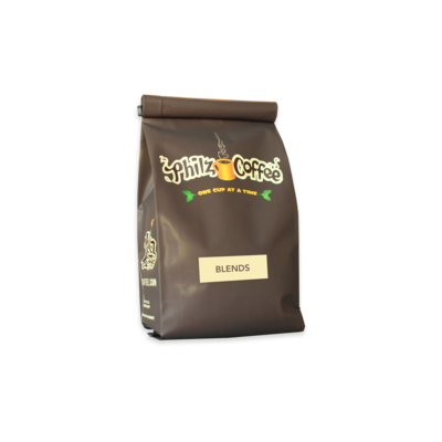 1 pound bag with Philz Coffee, one cup at a time logo for blends