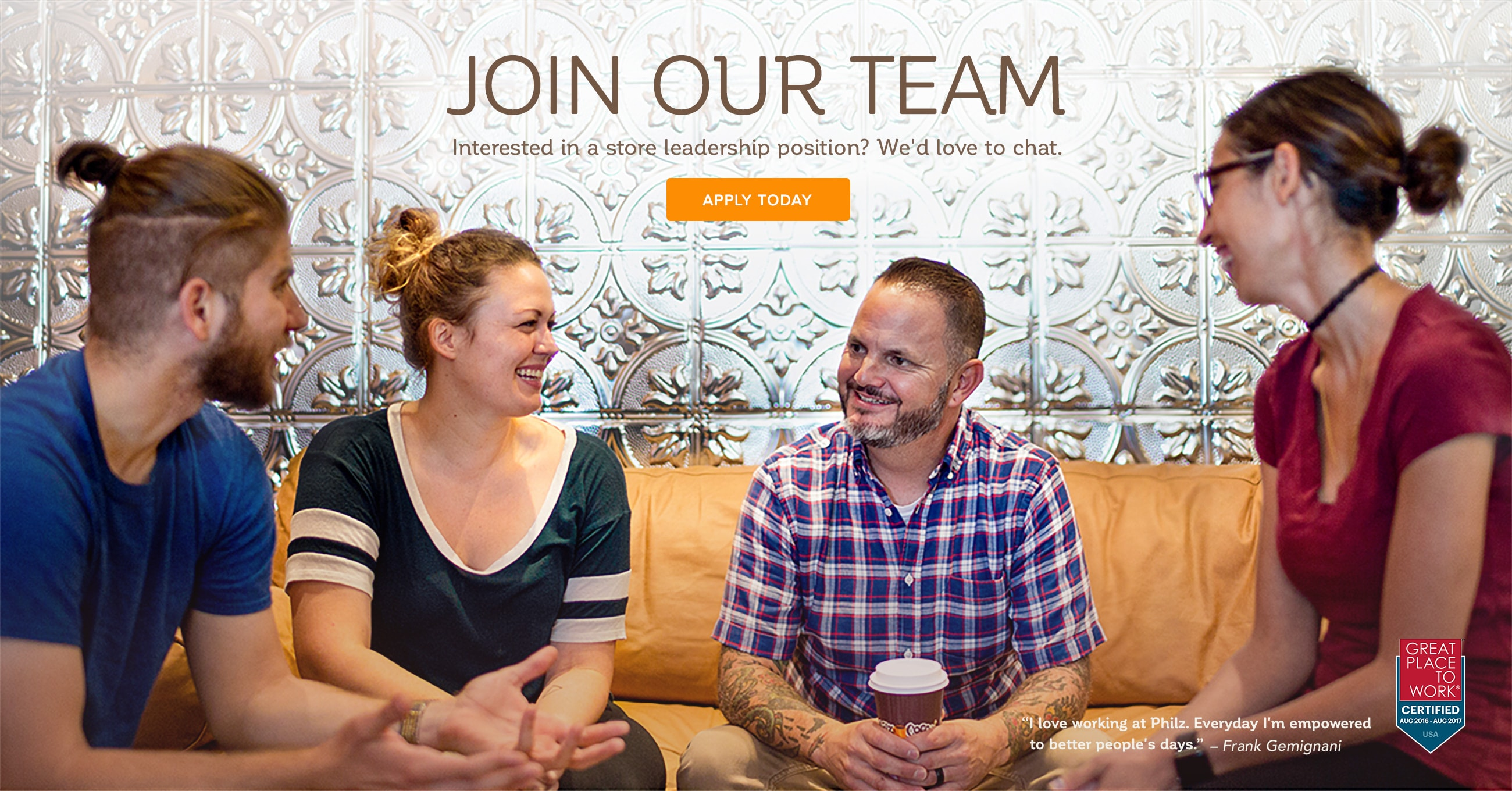 Interested in a store leadership position? We'd love to chat.